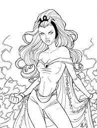Printable Storm Superhero Coloring Pages For