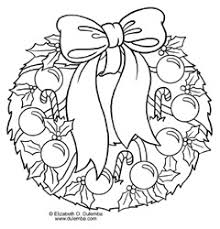 Dulemba Coloring Page Tuesday Christmas Wreath
