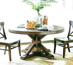 amish round pedestal dining table solid wood rustic expandable 48 wood pedestal dining table set