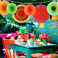 <b>OurWarm</b> 6pcs Paper Fan <b>Mexican Fiesta</b> Party Paper Fan Flowers ...