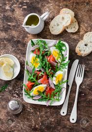 It is often considered by religious christians to be their most important holiday. Easter Brunch Salad Smoked Salmon Eggs Arugula Red Onion Stock Photo Picture And Royalty Free Image Image 92677456