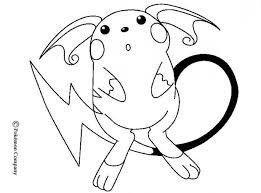 Raichu Coloring Pages Hellokids On Mega Venusaur Pokemon