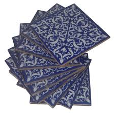 blue pottery tiles we are