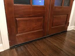 hardwood transition at entry door