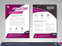 Front And Back Page Brochure Template Flyer Design Leaflet
