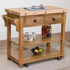 Kitchen Chopping Block Table Loon Peak Fresno Kitchen Island With Butcher Block Top Reviews