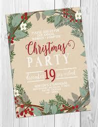 Christmas Invitation Ideas Christmas Party Invitation By Studiofourty60 On Etsy Invitations