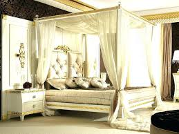 decoration: Canopy Beds Wooden Wood Bedroom White Bed With Golden ...