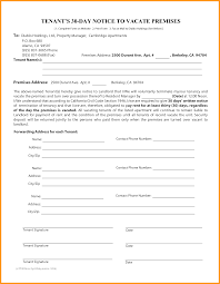 30 day notice to landlord form 30 day notice to tenant california pdf vacate spanish of rent