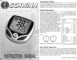 Bicycle Speedometer Calibration Chart K3pgp Experimenters Corner Schwinn 12 Function Bicycle