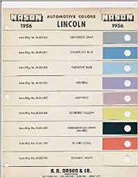 1956 Lincoln Color Paint Chip Page Lincoln Amazon Com Books
