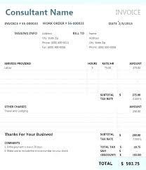Sample Invoice For Consulting Services It Consultant Invoice Template Consulting Billing Contractor