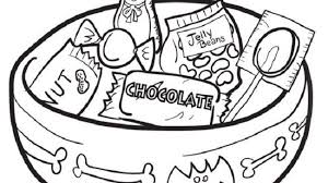 halloween candy coloring page. Halloween Candy Coloring Pages On Page