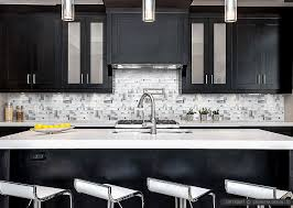 Modern White Glass Metal Backsplash Espresso Kitchen Cabinet Magnificent Kitchen Cabinet Backsplash