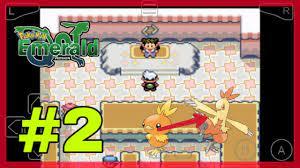 Pokemon emerald việt hóa #2 | torchic tiến hóa thành combusken và đánh bại  thủ lĩnh
