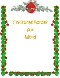 Christmas Border Templates For Word Free Festival Collections