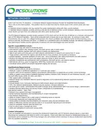 resume writing for network engineer