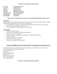 Resume Sample Doc Computer Operator Resume Model Fresh Professional Data Entry 56