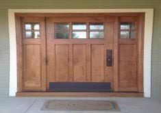craftsman style front doorWonderful Craftsman Entry Door With Sidelights Front Doors  Fun