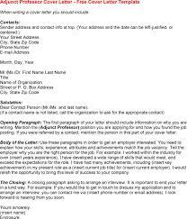 adjunct professor cover letter sample for adjunct professor cover letter adjunct faculty cover letter