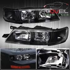 All Chevy 95 chevy headlights : 1PC Jdm Black Housing Headlights With Corner For 95-99 Nissan ...