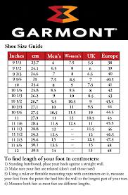 Garmont T8 Sizing Chart Www Prosvsgijoes Org