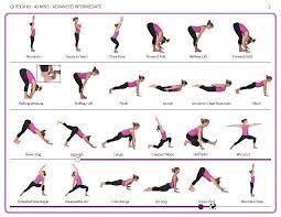 Basic Yoga Poses Chart Pin On Yoga Meditation And Exercise