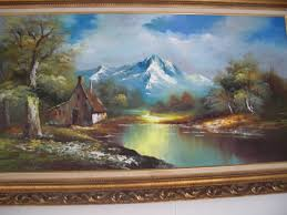 vintage g whitman beautiful landscape oil painting collectors weekly