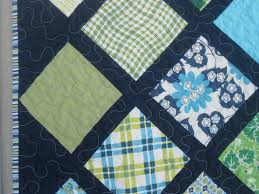 Baby Boy Quilt | Squares and Triangles & Baby Boy Lattice Quilt Adamdwight.com