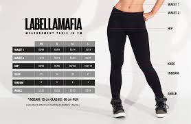Size Chart Labellamafia Clothing