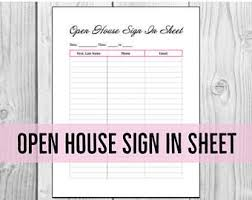 Sign In Sheet Etsy