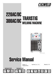 220ac Dc 300ac Dc Service Manual Transtig Manualzz Com