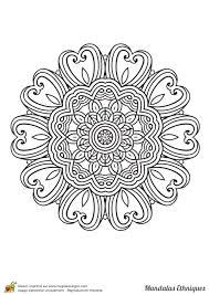 Coloriage Mandala Ethnique Fleurs Et C Urs