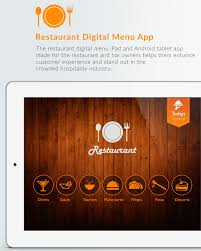 restaurant menu design app restaurant digital menu ipad android tablet app
