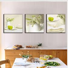 dining room artwork prints. 3 Pieces Modern Spray Canvas Painting Dinner Plate With Apples Oil Print Dining Room Decoration Prints-in \u0026 Calligraphy From Home Artwork Prints