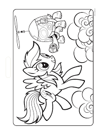 Kleurplaat My Little Pony Rainbow Dash Kleurplatennl