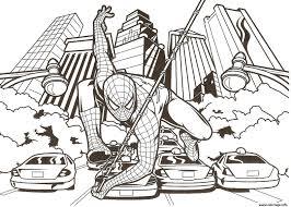 Coloriage Spiderman Dessin Imprimer Gratuit