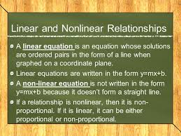 linear and nar relationships
