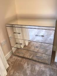 next mirrored furniture. NEXT BEDROOM FURNITURE , Mirrored Glass. 2 X BEDSIDE DRAWERS, 1 LARGE DRAWERS Next Furniture R