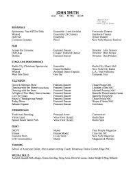 Resume Dance Teacher Resume