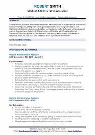 Key Skills Resume Administrative Assistant Medical Administrative Assistant Resume Samples Qwikresume