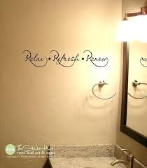 menards home improvement neighbor name relax wall decor refresh renew decal bathroom