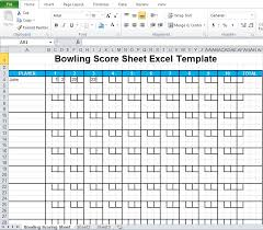 Bowling Score Sheet Excel Template Excel Tmp