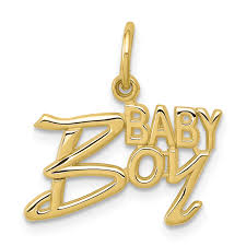 10k yellow gold baby boy pendant charm necklace fine jewelry for women gift set