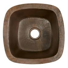undermount bar sink. Rincon Antique Copper Bar And Prep Sink Undermount U