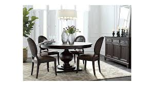 60 inch round dining table set dark mahogany extendable reviews crate and barrel 60 inch round dining table set