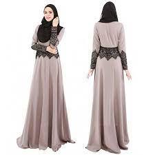 Lace Long Party Maxi Dress Kaftan Abaya Islamic Muslim | Shopee Philippines