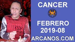 HOROSCOPO CANCER-Semana 2019-08-Del 17 al 23 de febrero de 2019-ARCANOS.COM