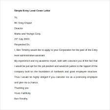 Entry Level Cover Letter Templates Musiccityspiritsandcocktail Com