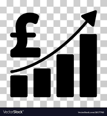 Sales Chart Icon Pound Sales Growth Chart Icon